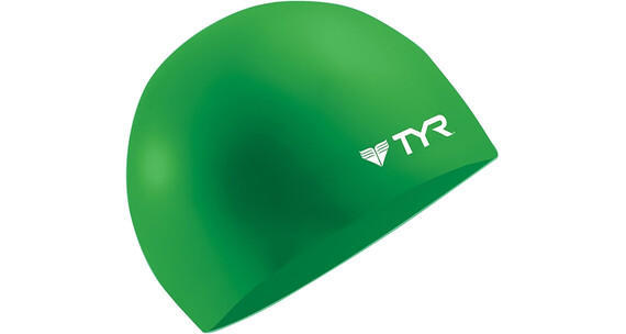 TYR Wrinkle Free Silicone Swimming Cap Green